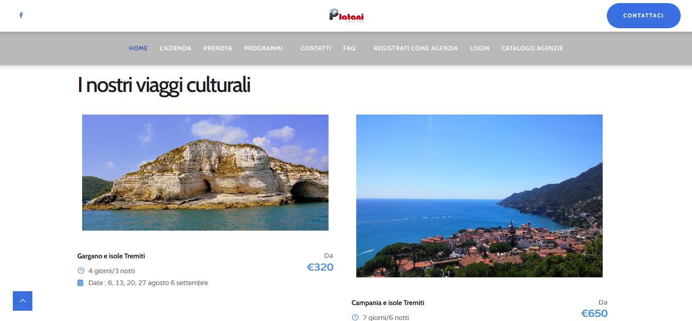 platani viaggi pacchetto viaggi culturali
