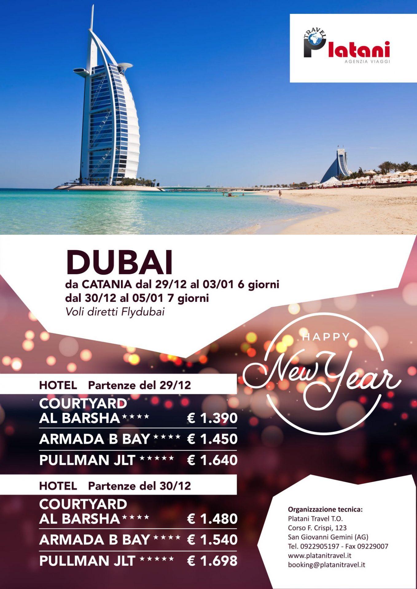 Itinerari per viaggio Catania - Dubai Platani Travel