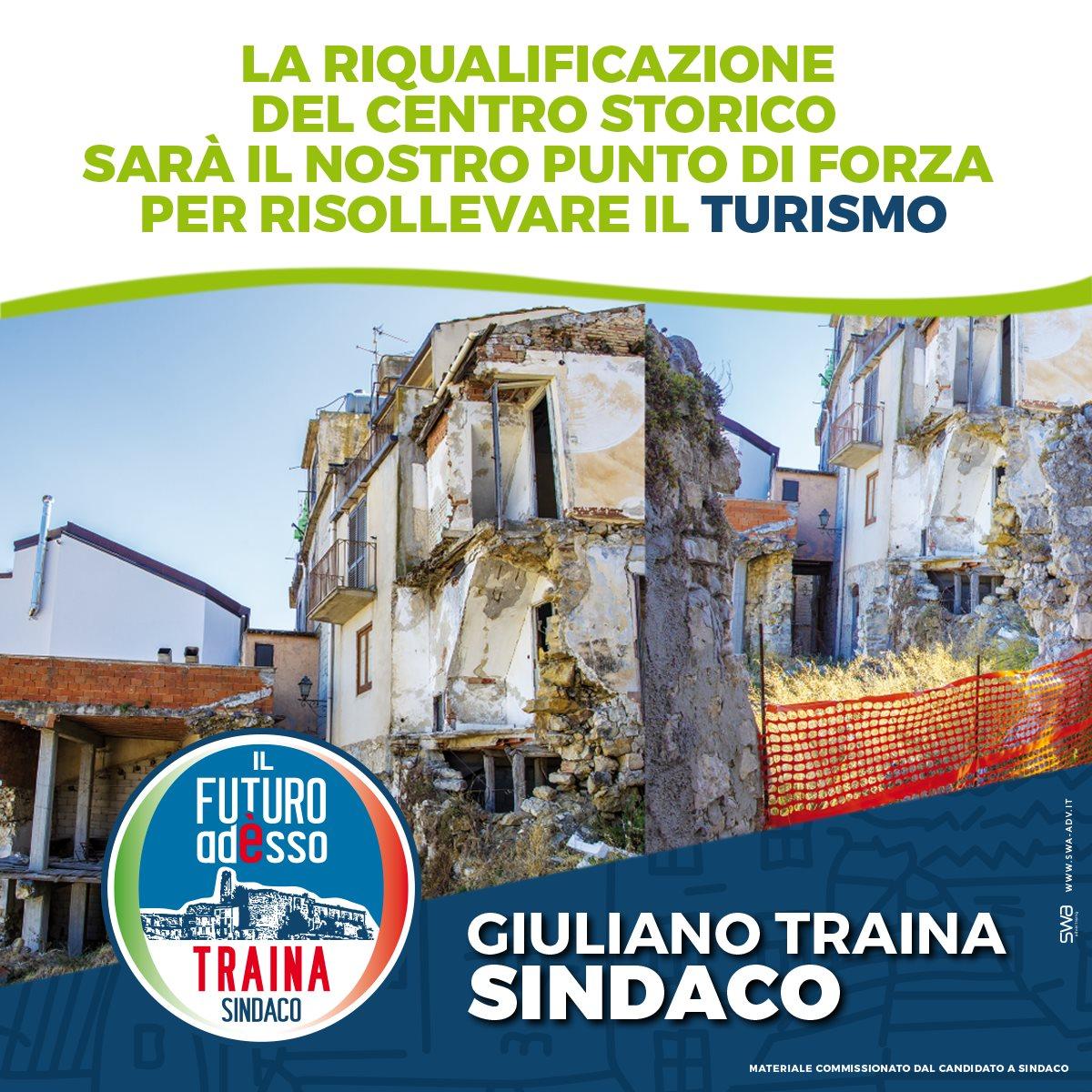 Locandina progetto riqualificazione sindaco Traina