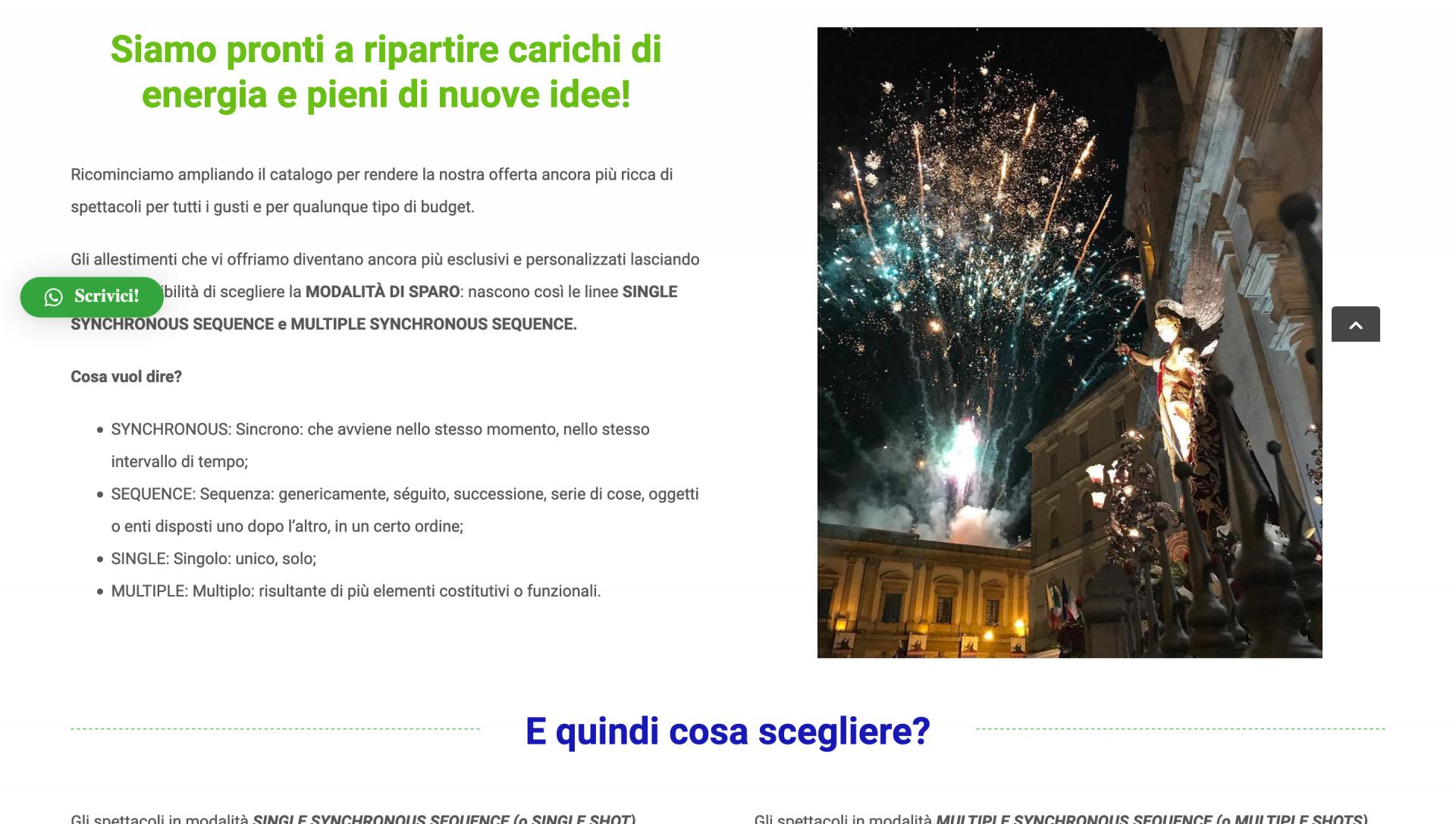 Homepage sito Picone Fireworks
